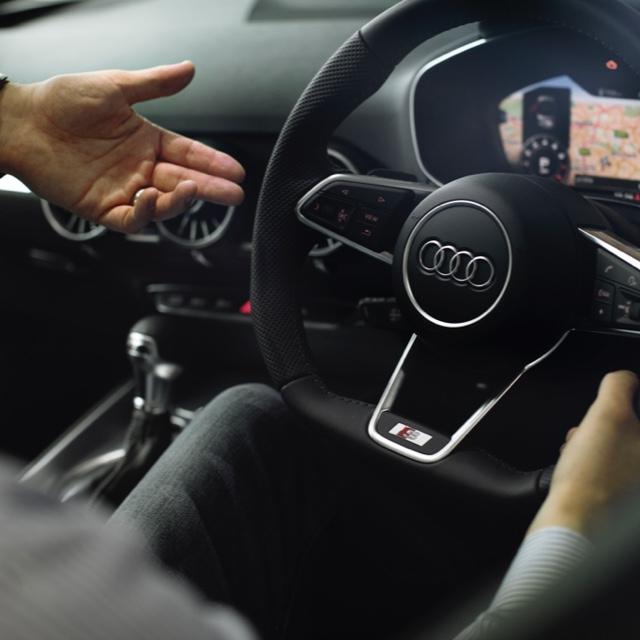 Interior of an Audi