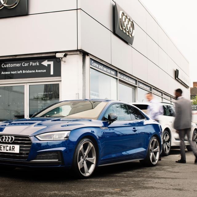 Blue Audi